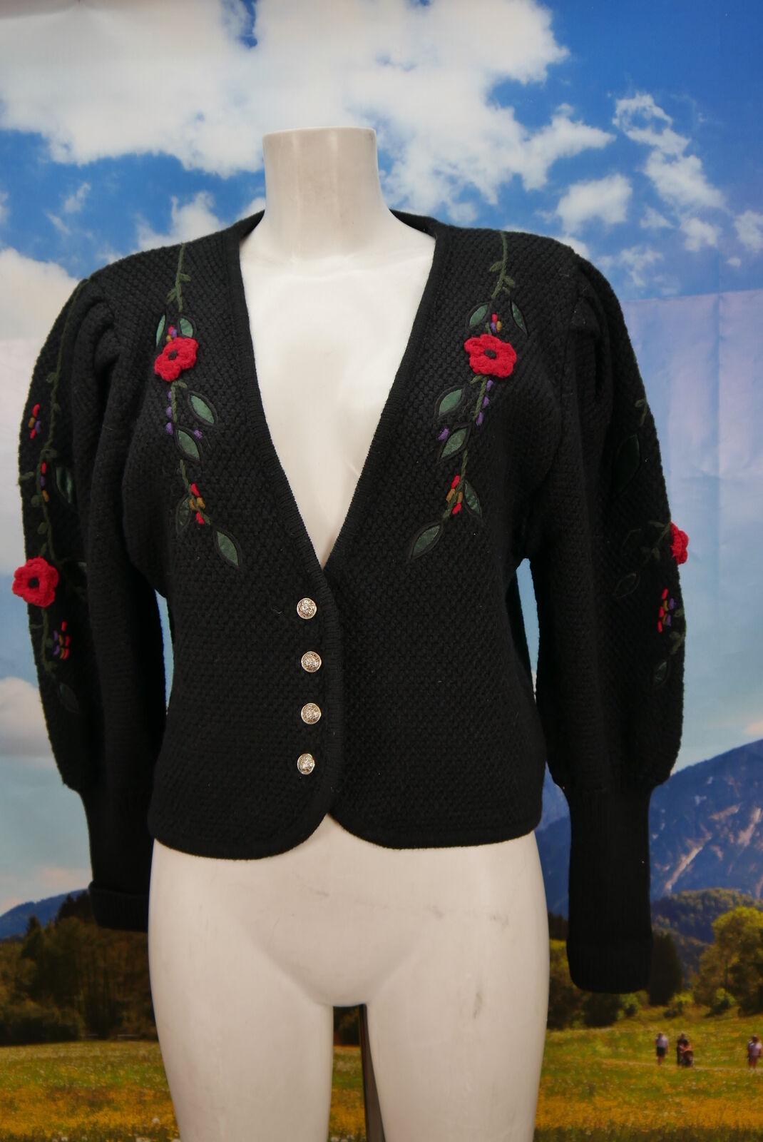 Your sexto sentido  chaqueta de punto señora con bordados Trachten chaqueta chaqueta talla 40  orden en línea