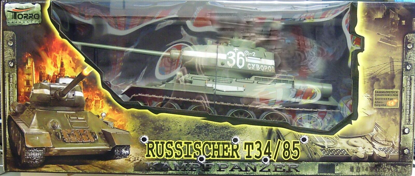RC modelo t-34, infarojo Sistema de combate, luz   sonido, TORRO , 1 16 , 2,4Ghz