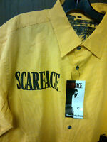 Scarface Men's Short Sleeve Woven Shirt Yellow 2xl Bargain Buzz Price $29