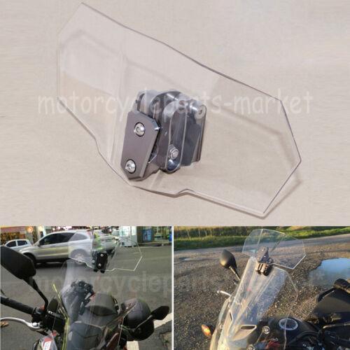 Réglable clip sur pare-brise Extension spoiler déflecteur pour Moto