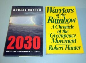 2-Books-by-ROBERT-HUNTER-GREENPEACE-2030-CONFRONTING-THERMAGEDDON-ENVIRONMENTAL