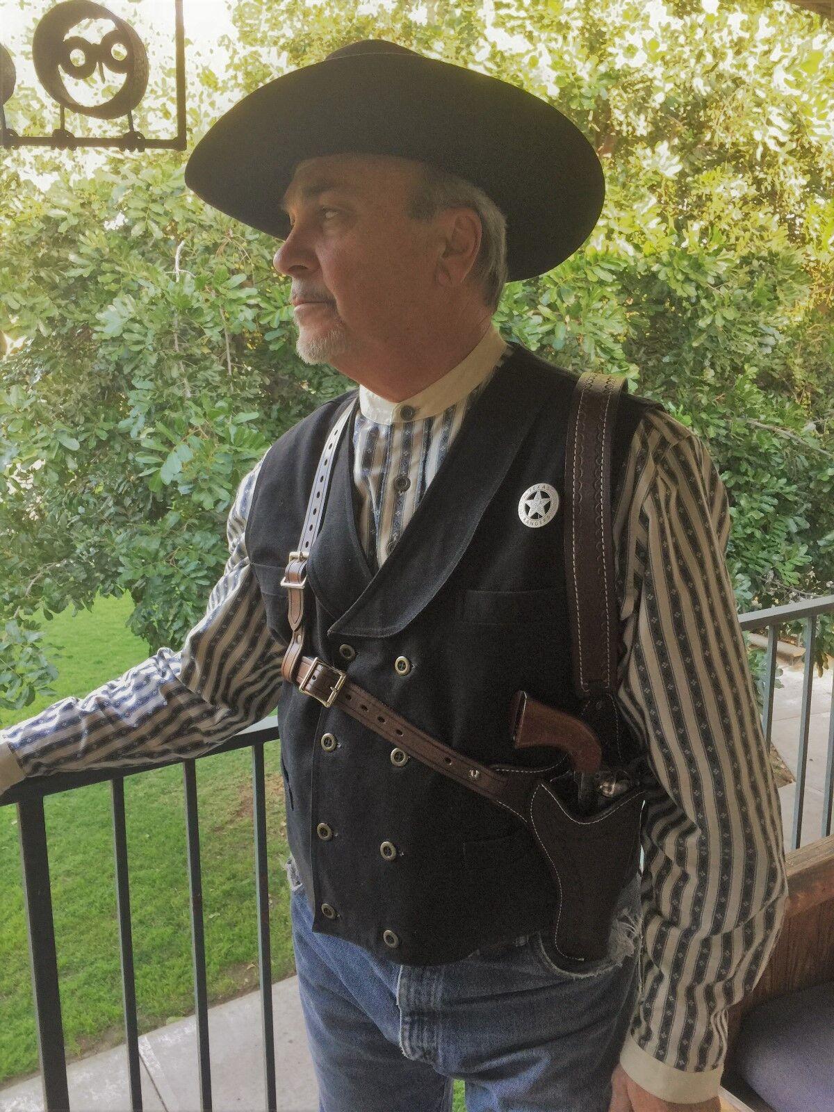 Doc Holliday Funda de hombro Rig personalizado hecho Vaquero Acción