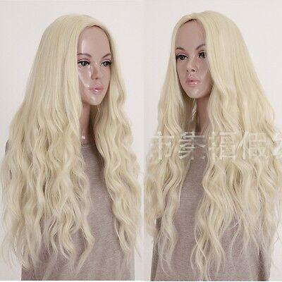 Neu Anime Perücke Cosplay Wig Gewellt Gelockt lange Haare volle Perücken blonde