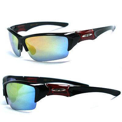 Trans XLoop Sport Men Designer Sunglasses Red Frame // Fire Lens X47