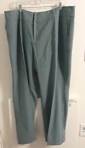 Nuevo Jessica London Para Mujer Talla 22 Verde Azulado Pantalones De Vestir Ebay
