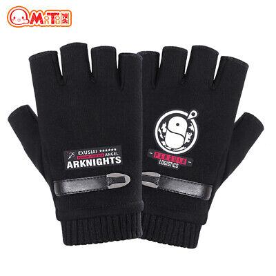 Details about  /Anime  Arknights Penguin Logistics Black Half Finger Gloves Fingerless Gloves