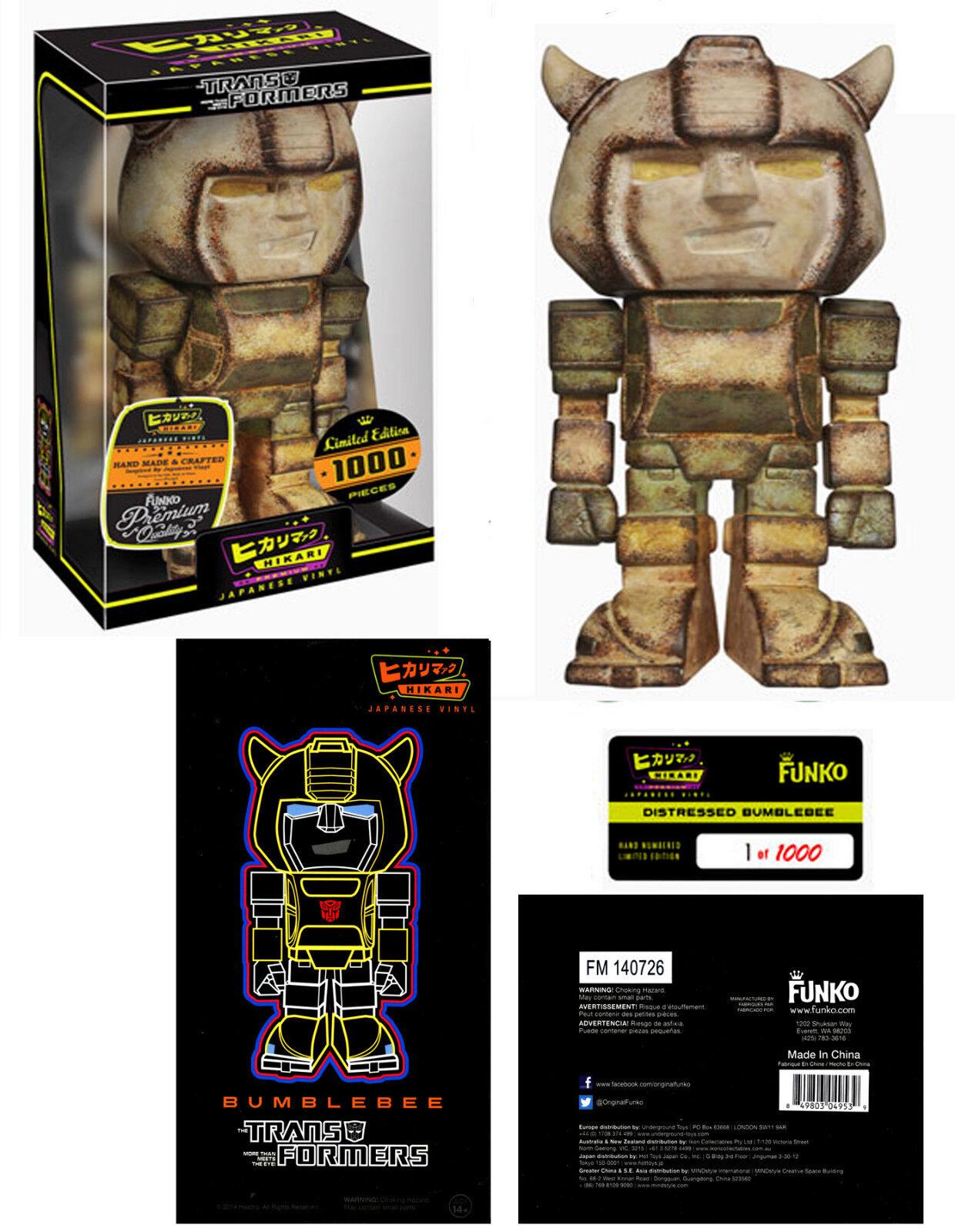 Funko Hikari Transformers Bumblebee Distressed Limited Edition Figure