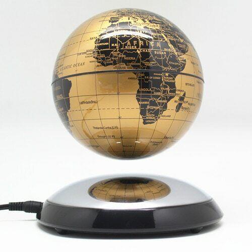 GIFT 6 Inch Creative Magnetic Levitation Floating Globe World Map Desktop Decor