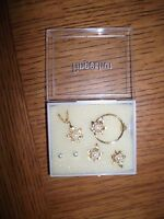 6 Pc Gold Plate Earring Pin Necklace Set Pearls And Maple Leaf By Fingerhut