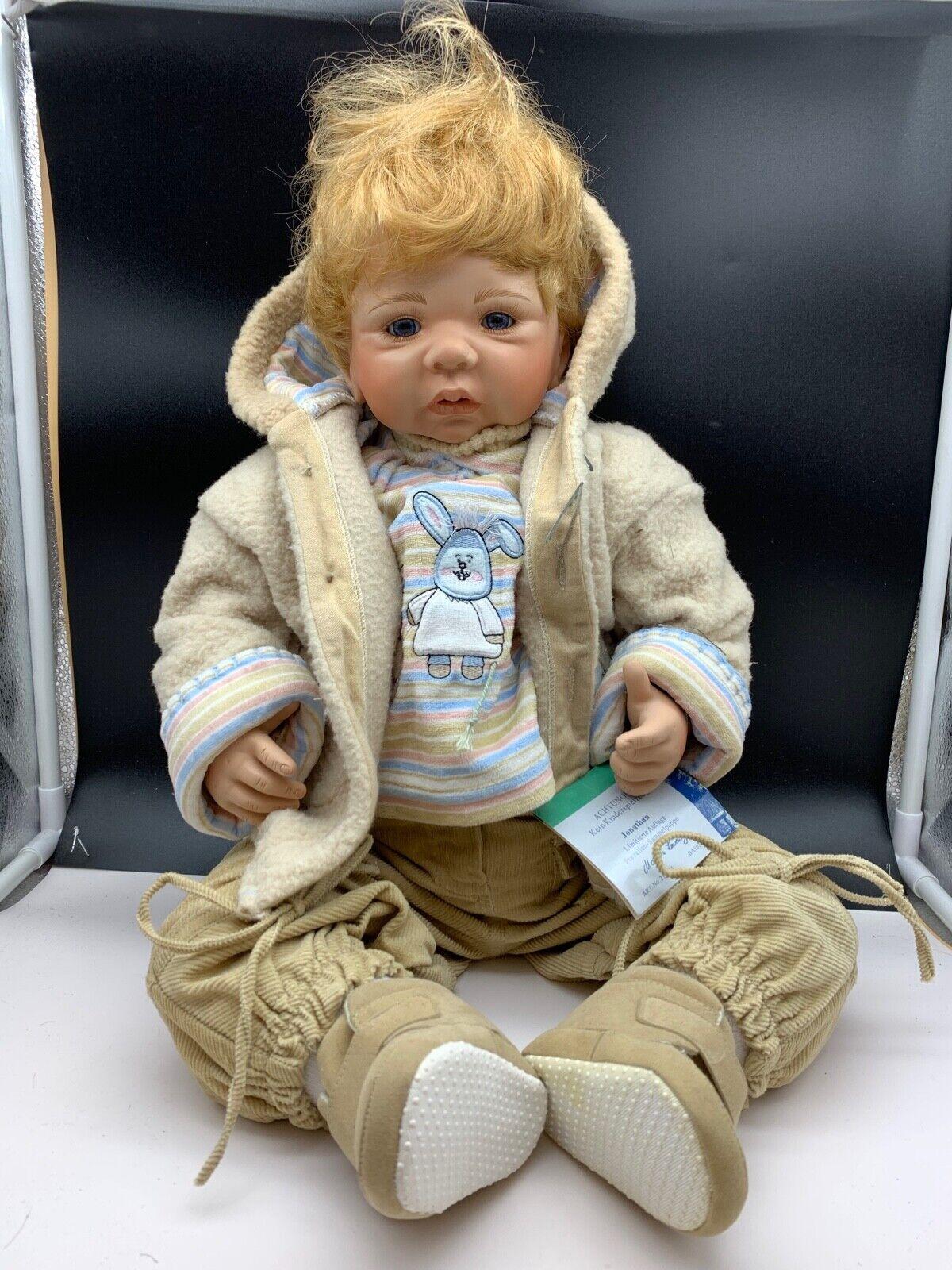 Monika Levenig Künstlerpuppe Porzellan Doll 63 cm. Top Zustand