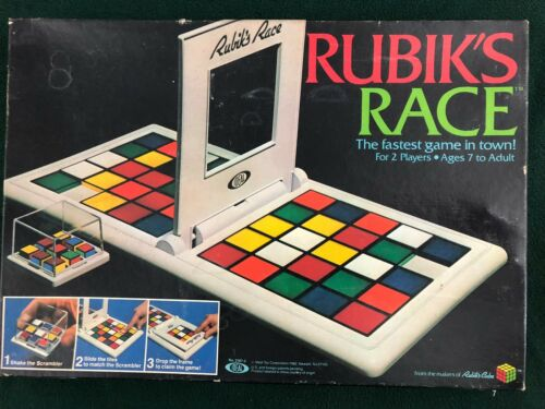Rubiks Race Replacement Parts Cube Scrambler Tiles Instructions Game Base