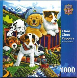 034-Choo-Choo-Puppies-034-Jenny-Newland-MasterPieces-Jigsaw-Puzzle-19-25x26-75-1000-pc