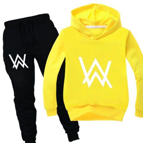 Walker UK 2019 Unisex Kids Boys Girls Sweatshirt Top+Pants Set New Tracksuit