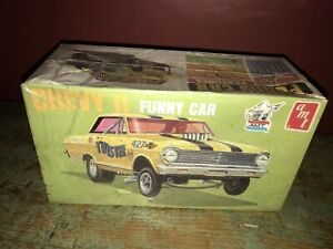 Vintage-AMT-1965-Chevy-II-Twister-Funny-Car-Dragster-Kit-NOS-unopened-RARE-Toy
