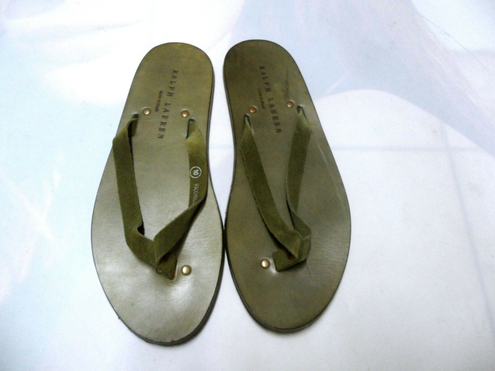 BRAND NEW RALPH LAUREN COLLECTION PAXHILL SLIPPER (US SIZE 10) OLIVE