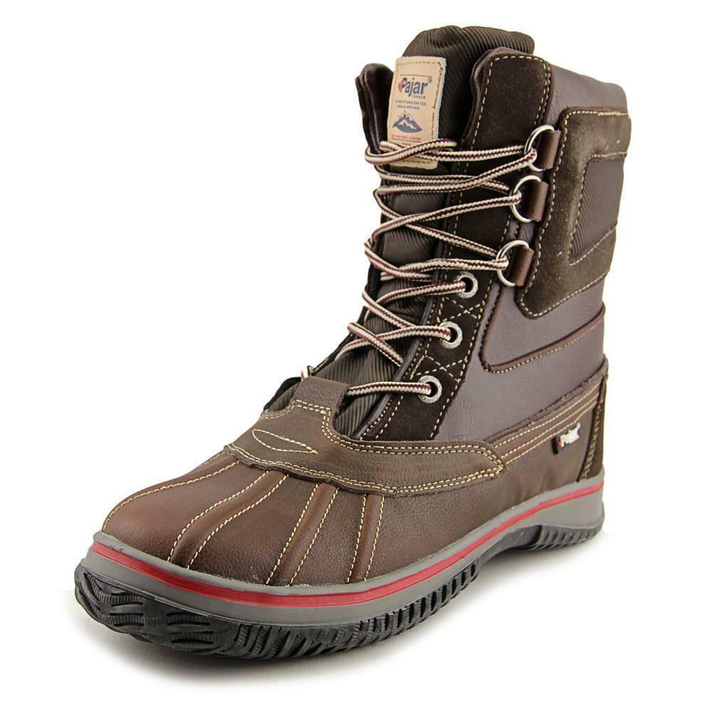 MENS PAJAR TUSCAN INSULATED WATERPROOF DUCK TOE WINTER BOOTS leather snow fur pc