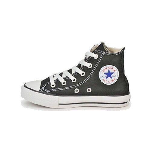 Scarpe Da Bambino Bambina Converse All Star 3J231C Nero Sneakers Tela Alta Nuovo
