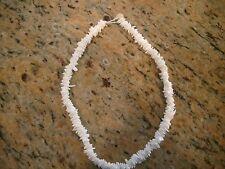 "Seashell Puka Sea Shell Necklace White Beach Surfer Choker 18"" Genuine Original"