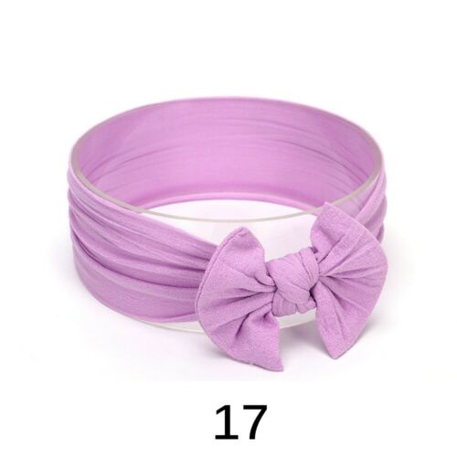 Baby Elastic Headband Newborn Toddler Kids Nylon Hairband Girl Bow Knot Headwear