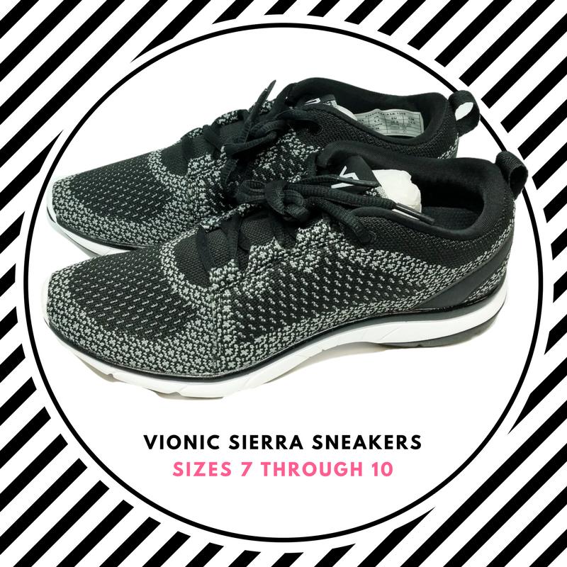 Womens Size 7-10 Vionic Orthaheel Orthaheel Orthaheel Vionic Flex Sierra Sneakers shoes Black White 1ee471