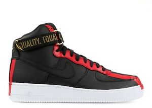 Details about Nike Air Force 1 High BHM Black History Month QS Equality 836227 002 size 8 13