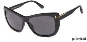 eee513db84760 Tom Ford Lindsay TF 434 01D Black Grey Polarized Sunglasses ...