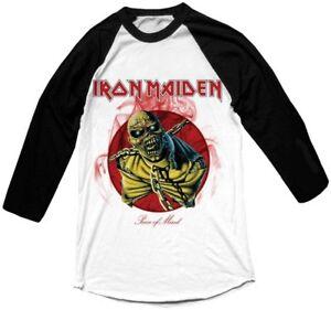Iron-Maiden-039-Piece-Of-Mind-039-Long-Sleeve-Baseball-Shirt-NEW-amp-OFFICIAL