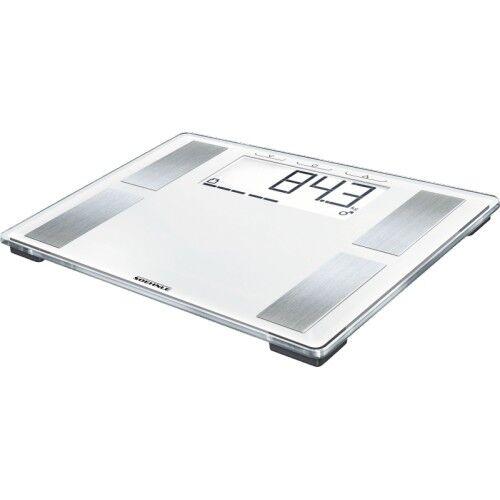 Soehnle 63868 Shape Sense Profi 100 Weiss-Silber Personenwaage LCD-Ausführung