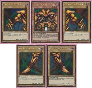 Yu-Gi-Oh-Complete-Exodia-the-Forbidden-One-5-Cards-1st-Edition-Gold-Rares-Set