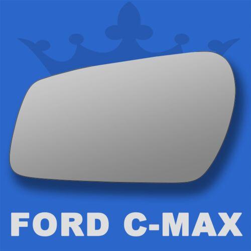 Ford C-Max wing door mirror glass 2003-2008 Left Passenger side Flat