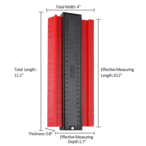 "5/"" 10/"" Contour Duplication Gauge Profile Duplicator Edge Shaping Measure Ruler"