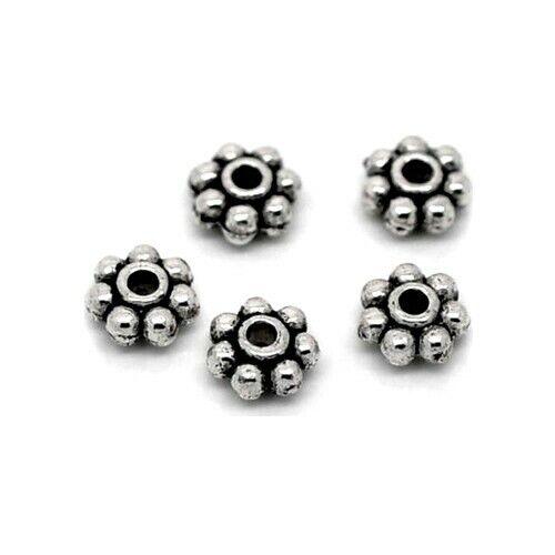 50 Intercalaires spacer /_ FLEUR 5X5X2,5mm /_ Perles apprêts créat bijoux /_ A024
