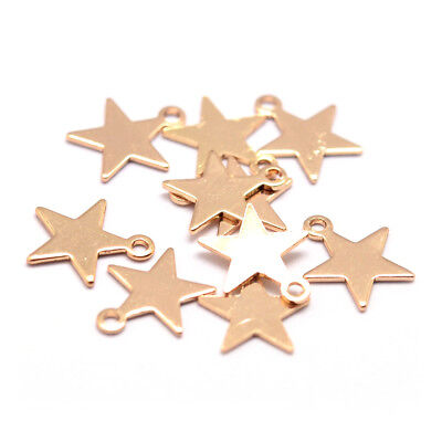 5mm rose gold necklace pendant 2118-BRG 20 pcs 20/% SALE 20 pc tiny small rose gold star charms