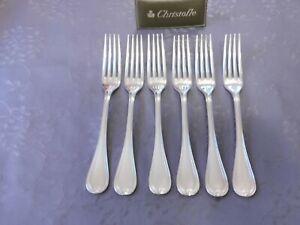 6 cuillères de table excellent état métal argenté. Christofle modèle Malmaison