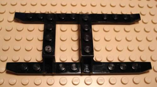 Lego Legos One NEW Helicopter Sled Rails 12 x 6 Black   9.5 cm long