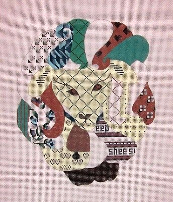 """KW 6024 /""""Fruit Lady/"""" by TS Designs HP Hand Painted Needlepoint Canvas"""