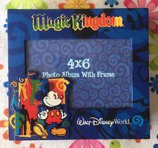 "Walt Disney World Magic Kingdom photo album with frame cover holds 100 4x6"" pics"