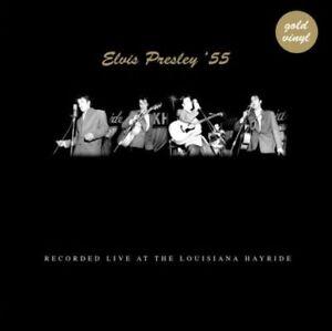 Elvis-Presley-Live-at-the-Louisiana-Heyride-VINYL-LP-Album-Gold-Vinyl-Gift-Idea