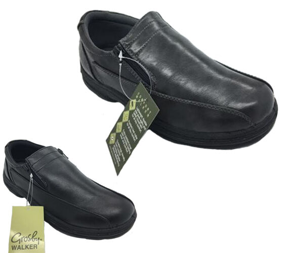 Mens Shoes Grosby Johnson Black or Grey Mens Twin Zip New up Shoe Size UK6-12 New Zip 290f46