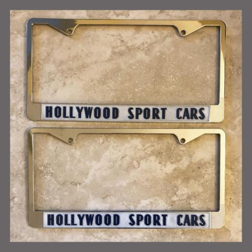 Transportation Hollywood Sport Cars Ferrari European Sports Cars License Plate Frames Pair Ca Collectibles Drukgreen Bt