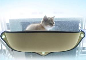 Katze Hängematte Bett Halterung Fenster Pod Liegestuhl Saugnapf Weich
