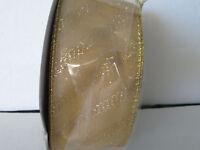 Gold Metallic Striped Value Ribbon 2.5 X 30 Yards By Hobby Lobby 2011