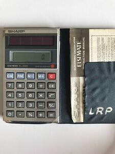 Vintage Sharp ElsiMate EL-326A Solar Powered Pocket Calculator w/ Case