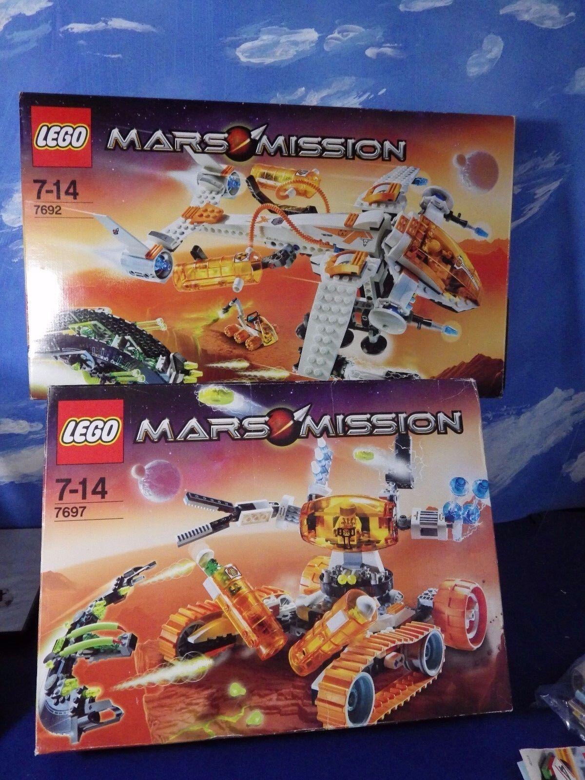 Lego 7692 & 7697 Mars Mission MX-71 Recon Dropship &  MT-51 Claw-Tank Ambush