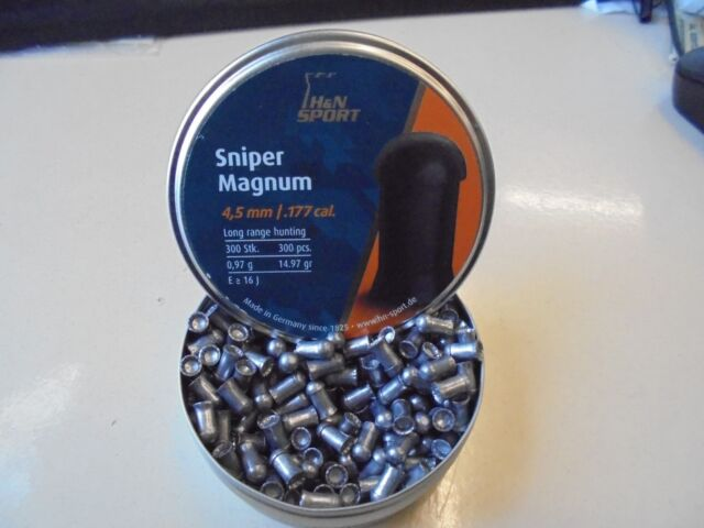 H and N sniper magnum .177 / 4.5mm airifle pellets x 50 sample pack.