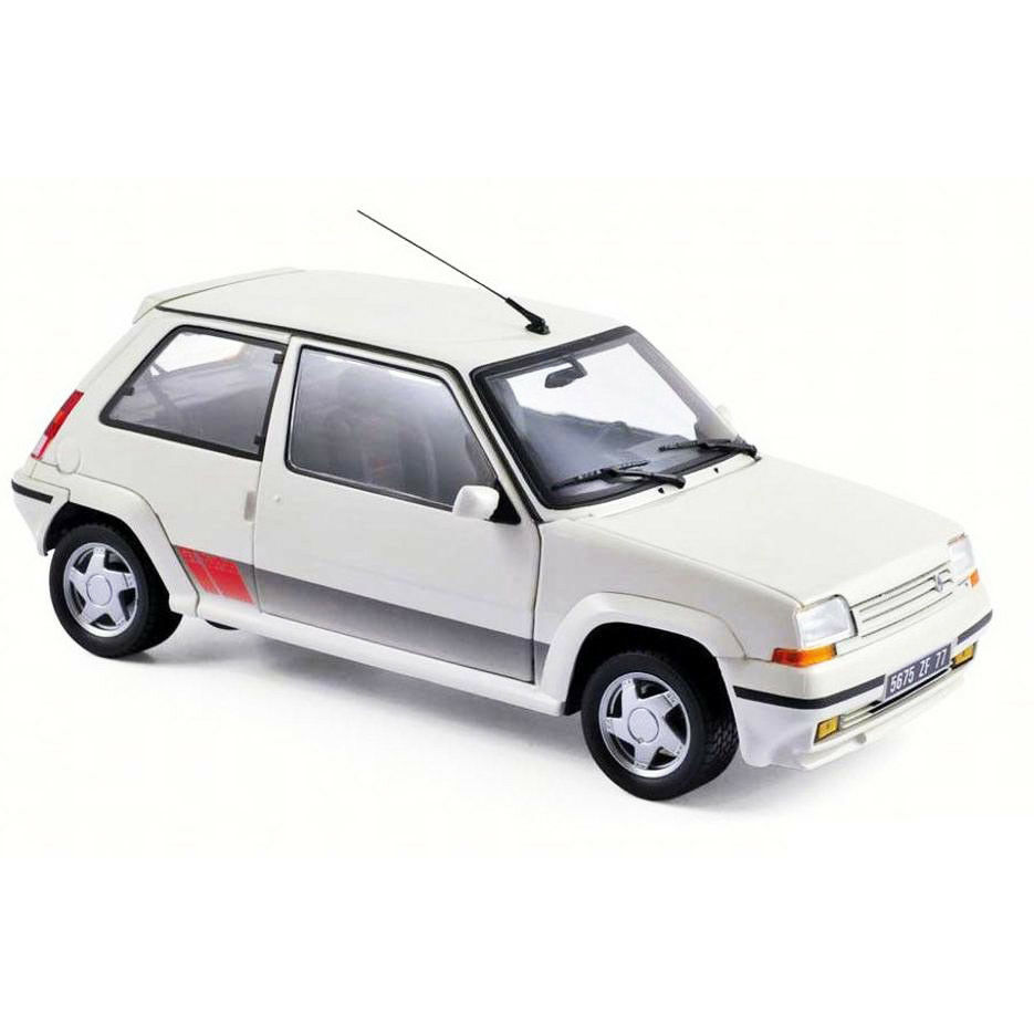 Norev 185206 1989 Renault Renault Renault Supercinq GT Turbo PH II 1 18 Model Car White 45e65e