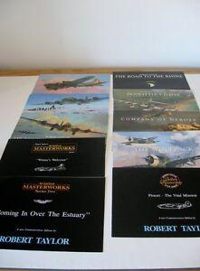 USAAF-Lot-Aviation-Art-Advertising-Flyers-Artist-Robert-Taylor-10-Brochures