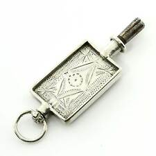 Rare Fine Antique Solid Silver Pocket Watch Key Pendant Charm Gift Boxed 16BNOVE