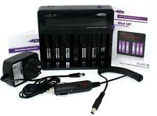 Efest LUC V6 LCD 3.7v 6 Bay 18650 26650 16340 14500 Li-ion battery charger