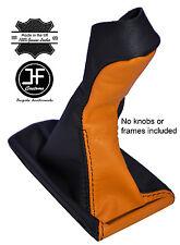 BLACK & ORANGE LEATHER MANUAL GEAR KNOB GAITER COVER FITS MERCEDES E CLASS W211